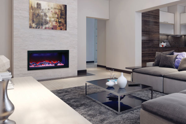gas fireplace in the living room