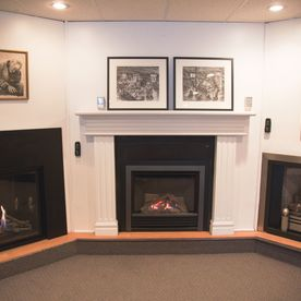 fireplaces in showroom